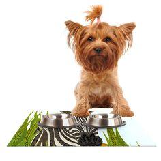 "Art Love Passion ""Zebra"" Black White Dog Place Mat"