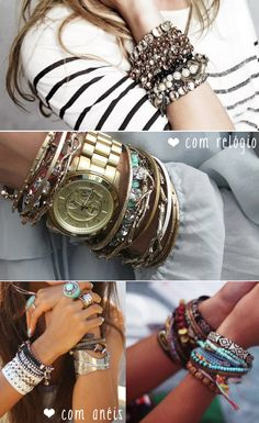 Love an arm full of bracelets! Plus, the watch is on my wish list too!