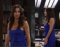 I'm a Soap Fan: Sam Morgan's Blue Maxi Dress - General Hospital, Season 52, Episode 101, 08/22/14 #GH #GeneralHospital