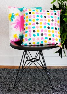 DIY Hand Painted Pillows