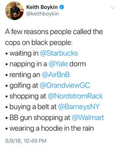 Don't promote ignorance. Stop calling the cops for no fucking reason #blm