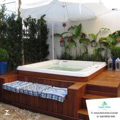 Hot Tub Gazebo, Hot Tub Deck, Hot Tub Backyard, Hot Tub Garden, Small Backyard Pools, Backyard Patio, Jacuzzi Outdoor, Jacuzzi Tub, Backyard Pool Designs
