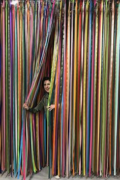 Ribbon installation | Darcy Miller Designs #colorfactoryco #amazing #backdrop #photo #opportunity #rainbow #event #party #idea Unicorn Wings, Interpersonal Relationship, Outdoor Wedding Decorations, Backdrops, Ribbon, Rainbows, Ava, Opportunity, Pride