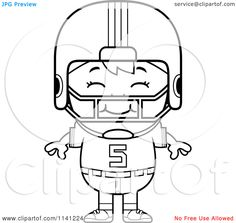 Coloring Page Cool Football Shoulder Pads at YesColoring