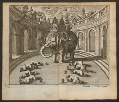 King Narai's on elephant » Guy Tachard's 1685 Voyage to Siam THE SHELF