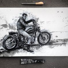 Megastarke Illustrationen in Tinte und Acryl von Vincent Nappi