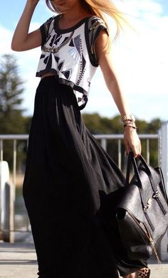 » Crop Top + Maxi Skirt – Wander With Style - Style and Fashion