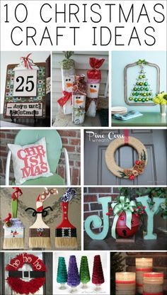 10 christmas craft ideas! @Alexis Hejna