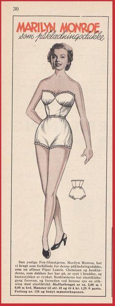 Ingrids Påklædningsdukker: 1953 - 29 - Dukken