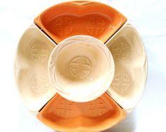 Vintage California Pottery Lazy Susan Pink & by PrimaTreasures
