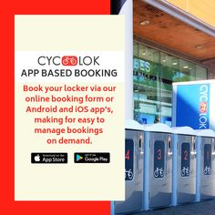 Bike Locker, Parking Solutions, Bike Parking, App Store Google Play, Bike Storage, Access Control, Bespoke, Lockers