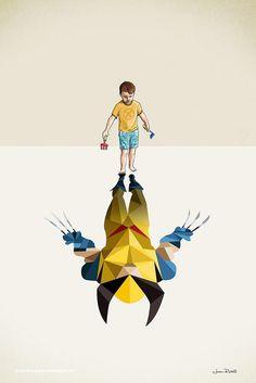 El Superhéroe escondido en la imaginación de todo niño.  Super Shadows by Jason Ratliff