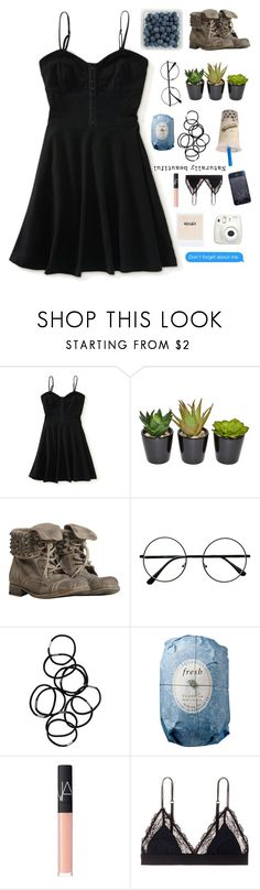 """""""; y o u r  n a t u r a l  d i s a s t e r"""" by iamcece854 ❤ liked on Polyvore featuring Aéropostale, The French Bee, AllSaints, Monki, Fresh, NARS Cosmetics, LoveStories and Fujifilm"""