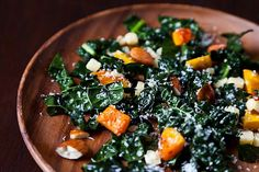 To make this salad vegan, substitute daiya cheddar for the real thing. Honestly, what makes this salad mouthwatering is not the cheese, it's the butternut squash and almonds :) Secondly, you should use an entire lemon as the dressing and you MUST massage the kale.