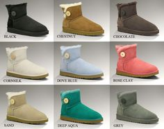 All colors of UGG Bailey Button Mini...