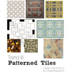 """""""Trend 6 Patterned tiles"""" by design2square on Polyvore Interior Styling, Interior Design, Article Design, 2014 Trends, Tile Patterns, Home Staging, Design Trends, Tiles, Polyvore"""