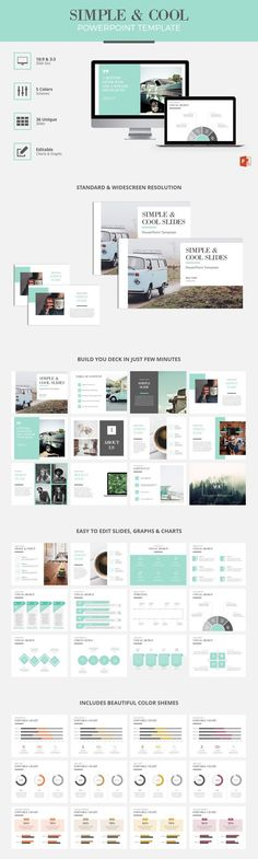 Simple \ Cool PowerPoint Template by Wipavee on @creativemarket - powerpoint brochure template