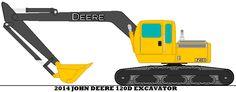 2014 John Deere 120D Excavator by mcspyder1.deviantart.com on @DeviantArt