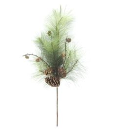 "Holiday Cheer 26"" Pine Pinecone Spray-Green"