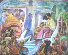 Carlos Francisco - Mural on Education Philippine Art, Filipino Culture, Girl Blog, Artists Like, Art Tutorials, Philippines, Contemporary Art, Filipiniana