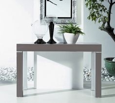 table console extensible stacy gris 5 allonges