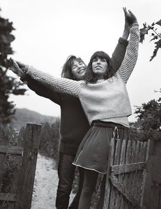 Lou Doillon & Jane Birkin for Glamour US Decembember 2011 - fashionDrip