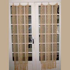 Filet Crochet French Door Panels Ecru Cotton by HatchedinFrance, $89.00