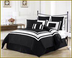 black and white bedding room ideas