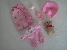 Mini Baby Born  neuwertiges 7 teiliges  Set - Tasche - Schlafsack - Töpfchen