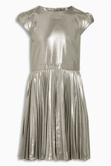 Buy Silver Foil Pleated Dress from the Next UK online shop Annie Costume, Girls Dresses, Summer Dresses, Next Uk, Kids Fashion, Costumes, Stuff To Buy, Shopping, Tops