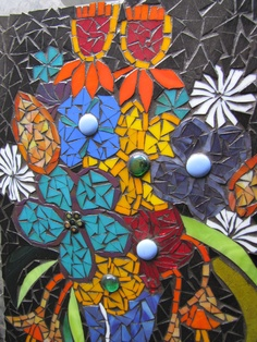 mosaic flowers by kat gottke