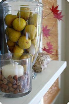 Glass jars!! Perfect year round!