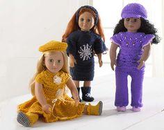 """Maggie's Crochet · 18"""" Dolls Lindy, Lauren, and Lola"""