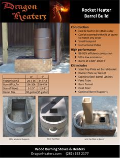Literature (PDF) about the Dragon Heater Barrel Build.