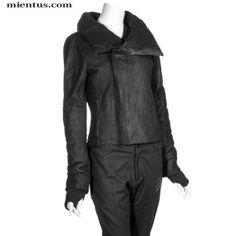 Y-3 Leather Zip Jacket