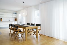 fönstret ab - gardiner - Lund Office Desk, Curtains, Interior Design, Table, House, Inspiration, Furniture, Blogg, Home Decor