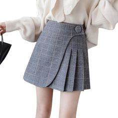 Women's Skirt High Waist Plaid Pleated Mini Skirt, Skirt Skirt You are in the right place about Skirt fashion Here we offer you the most beautiful pictures about t Cute Skirts, Mini Skirts, Teen Skirts, Plaid Pleated Mini Skirt, Pleated Skirts, Women's Skirts, Gray Skirt, Pink Bodycon Dresses, Corset Dresses
