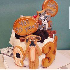 Тортик Люды @raisladkii с моими пряниками в Костанае Спасибо, что не забываешь меня Так приятно видеть наши пряники по всему Казахстану Animal Cakes, Cake Cookies, Disney Characters, Foods, Pies, Food Food