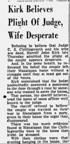 The most dominant theory about what happened to the Chillingworths begins with Judge Chillingworth's known previous association with a Florida municipal court judge named Joseph Peel. Peel was protecting bolita operators and moonshiners. In 1953, Peel represented both sides in a divorce (something that was unethical by conventional legal standards of conduct). His superior at that time (Judge Curtis Eugene Chillingworth), gave him only a reprimand, with the warning that this was his last…