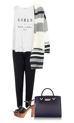 """""""Untitled #865"""" by frenchfriesblackmg ❤ liked on Polyvore featuring ZAC Zac Posen, NIKE, MANGO and Yves Saint Laurent"""