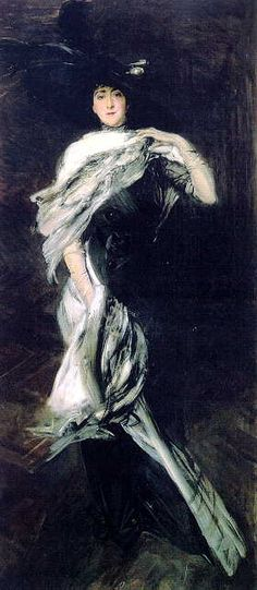 Giovanni Boldini - Edith Stuyvesant Dresser Vanderbiltt, Boldini was friends with John Singer Sargent. It is hanging in the Biltmore Estate in Asheville, NC Giovanni Boldini, John Singer Sargent, Italian Painters, Italian Artist, Belle Epoque, Biltmore Estate, Pin Up, Oeuvre D'art, Renaissance