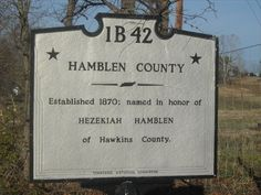 Hamblen County Line  TN - 1B 42 - Tennessee Historical Markers on ...