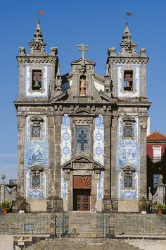 Santo Ildefonso Church in Porto. Just off Rua Catarina.
