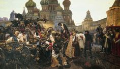Vasily Surikov: The Morning of the Streltsy's execution (1881) A member of the Wanderers movement