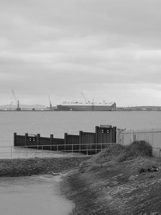 A car transporter at Sheerness docks on the river Medway [shared]