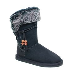 1389940808 Reneeze ROSE-10 Womens Fashionable Mid-Calf Winter Boots Faux Fur Lining -  BLACK
