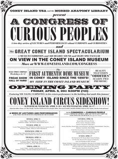 Vintage fairground style poster