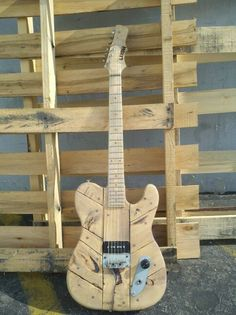 Pallet guitar by Lush Guitars