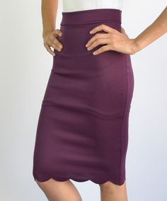 Loving this Eggplant Pencil Skirt on #zulily! #zulilyfinds