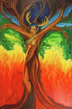 Awakening The Chakra Tree Painting by Jennifer Christenson - Awakening The Chakra Tree Fine Art Prints and Posters for Sale